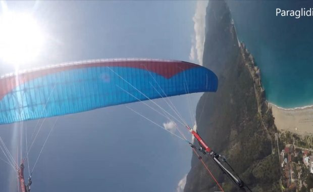 Paragliding wing during SIV training