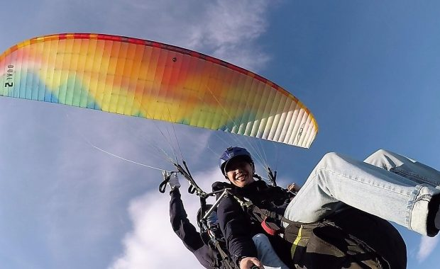 Tandem paragliding in Mongolia
