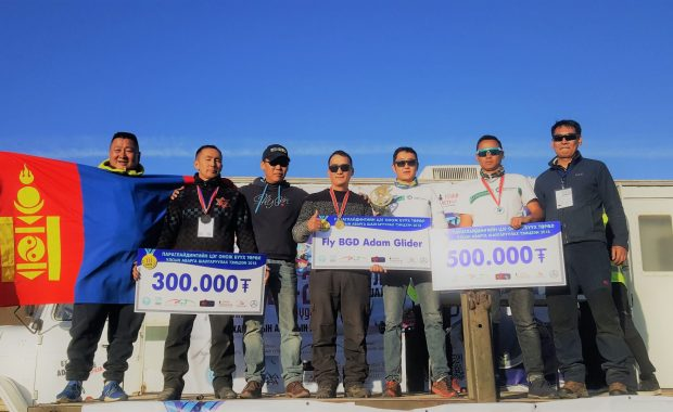 Paragliding competition winners Mongolia